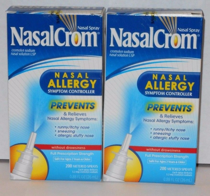 Cromolyn sodium nasal spray Nasalcrom