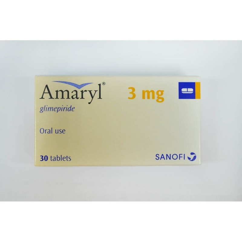Tabletas de glimepirida para la diabetes Amaryl